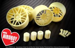"1:24 19"" Resin Wheel Set for Tamiya, Fujimi and Aoshima Kits"