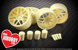 "1:24 19"" Resin Wheel Set for Tamiya, Fujimi and Aoshima Kits with Decals"