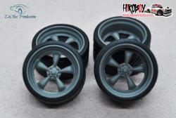 "1:24 19"" Wheels American Racing Torq with Tyres"
