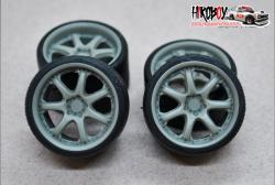 "1:24 19"" Wheels Rays Volk Racing GT-7 with Tyres"