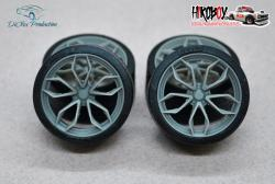 "1:24 21"" Wheels HRE P201 with Tyres"