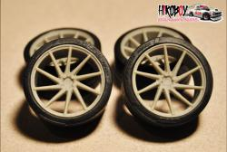 "1:24 21"" Wheels Vossen VPS-310t with Tyres"