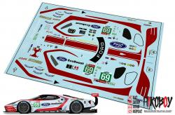 1:24 #69 Ford GT Le Mans Decals