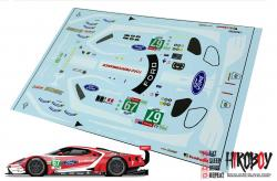 1:24 #67 Ford GT Le Mans Decals