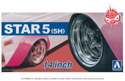 "1:24 Star 5  (5H) 14"" Wheels and Tyres"
