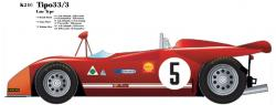 1:24 Alfa Romeo Tipo 33 Tipo33/3 Late Type B Multi-Media Model Kit