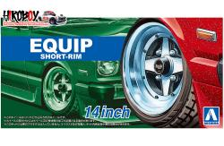 "1:24 Equip Short-Rim 14"" Wheels and Tyres"