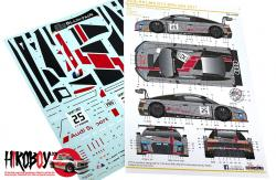 1:24 Audi R8 LMS GT3 Spa 24 Hours 2017 Decals (NuNu)