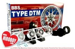 "1:24 BBS Type DTM 18"" Aoshima Wheels and Tyres"