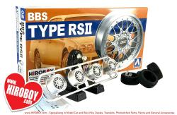 "1:24 BBS Type RSII 17"" Aoshima Wheels and Tyres"
