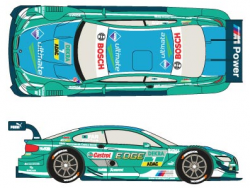 1:24 BMW M3 DTM #7 2013 Driver Augusto Farfus Decals (Revell)