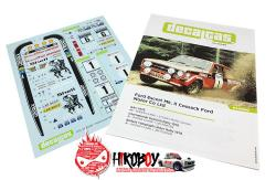 1:24 Ford Escort Mk. II Cossack Rally 1976 Decals for Belkits