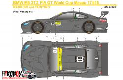 1:24 BMW M6 GT3 FIA GT World Cup Macau Carbon Decals (Platz)
