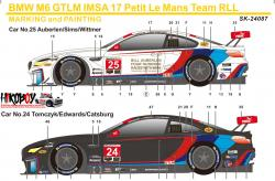 1:24 BMW M6 GTLM IMSA 17 Team RLL Decals (Platz)