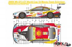 1:24 BMW M6 GT3 FIA 2018 GT World Cup Macau Winner Decals (Platz)