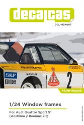 1:24 Audi Quattro Sport S1 Window Masks (Beemax)