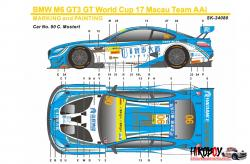 1:24 BMW M6 GT3 FIA GT World Cup Macau 17 Team AAI Decals (Platz)