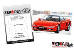 1:24 Honda NSX Window Painting Masks (Tamiya 24100)