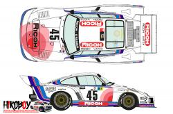 1:24 Porsche 935 K2 #45 Le Mans 24h 1978 Decals for Beemax