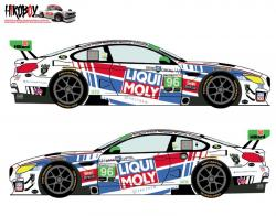 1:24 BMW M6 GTD #96 Rolex 24 Hours of Daytona 2018 Decals