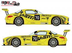 1:24 Mercedes SLS GT3 #70 Blancpain GT Series 2015 Decals