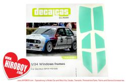 1:24 Beemax BMW M3 E30 Window Masks