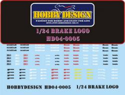 1:24 Brake Caliper Decals