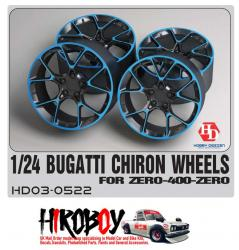 1:24 Bugatti Chiron Wheels for Zero 400 Zero