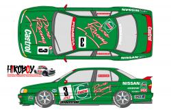 1:24 Castrol Nissan Primera JTCC 1994 Decals for Tamiya