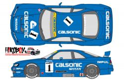 1:24 Calsonic Nissan Skyline GT-R R33 JTCC 1996 Decals for Tamiya