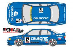 1:24 Calsonic Nissan Primera JTCC 1994 Decals for Tamiya