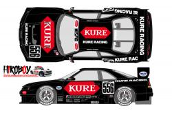 1:24 Kure Nissan Skyline GT-R R33 JTCC 1996 Decals for Tamiya