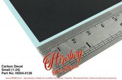 1:24 Carbon Decal Sheet (Small)