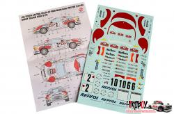 1:24 Castrol Celica GT-FOUR Monte-Carlo 1992 Decals for Tamiya 24125