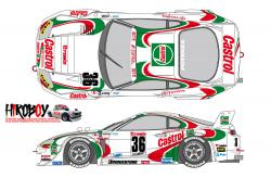 1:24 Castrol Toyota Supra GT 1995 Decals for Tamiya
