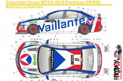 1:24 Chevrolet Cruze WTCC 12 Portimao GP #8 Vaillante Decals for (Beemax)