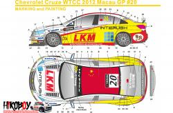 1:24 Chevrolet Cruze WTCC 12 Macau GP #20 Decals for (Beemax)