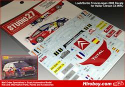 1:24 Citroen C4 #1/2 S.Loeb 2008 France/Japan Decals