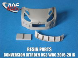 1:24 Citroen DS3 WRC - Conversion without decal (resin parts + P/E) Transkit