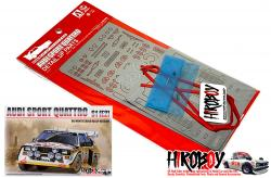 1:24 Detail Up Set for Audi Quattro S1 1985 Monte Carlo Rally