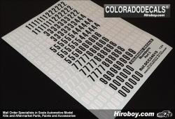 1:24 Door Number Decals Part 2 Small