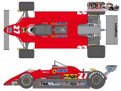 1:24 Ferrari 126C2 Sponsor Decal Set (for Protar)