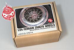 1:24 Ferrari 250GTO Wheels For Fujimi (PE+Resin+Metal Wheels)