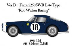 "1:24 Ferrari 250SWB Ver.D Late Version ""Rob Walker Racing"" -  Multi-Material Kit"