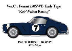 "1:24 Ferrari 250SWB Ver.C Early Version ""Rob Walker Racing"" -  Multi-Material Kit"