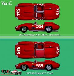 1:24 Ferrari 315S/335S - Ver.C : 1957 Mille Miglia 335S #534  Full Detail Multi Media Kit
