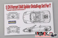 1:24 Ferrari 360 Spider Detail-up Set For Tamiya (PE+Resin)