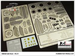 1:24 Ferrari 458 Italia - Photoetched Detail Set (Fujimi)