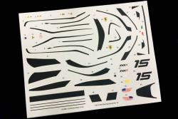 1:24 Ferrari FXX K Racing Decal No.15 (HD04-0144)