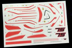 1:24 Ferrari FXX K Racing Decal No.75 (HD04-0142)